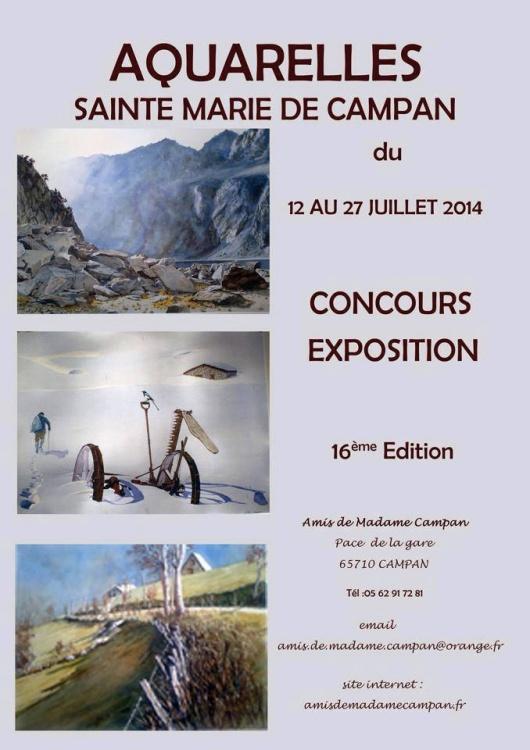 GRAND PRIX DU JURY au Salon d'aquarelles de Sainte-Marie de Campan (65)